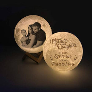 Foto Lampara personalizada, Luna Diseño 3D con texto