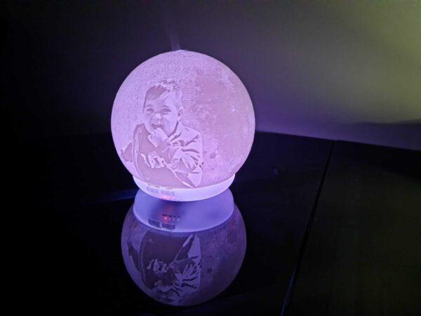 lampara 3d luna ambientador 3