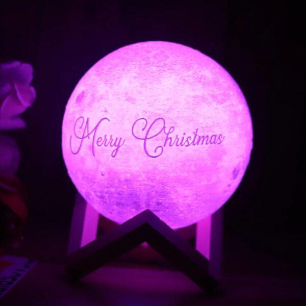 Regalos para navidad hechos a mano, lampara luna personalizada 01