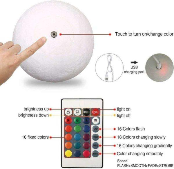 Regalos para navidad hechos a mano, lampara luna personalizada 06